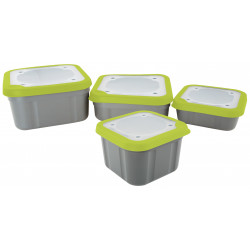 BOITES A ESCHES COUVERCLES PLEIN SOLID TOP BAIT BOXES GRIS/JAUNE MATRIX