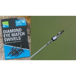 EMERILLON A BARIL DIAMOND EYE MATCH SWIVEL PRESTON INNOVATIONS