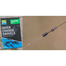 EMERILLON A BAS DE LIGNE QUICK CHANGE SWIVELS PRESTON INNOVATIONS