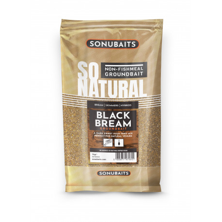 AMORCE SO NATURAL BLACK BREAM 1KG SONUBAITS
