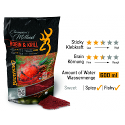 AMORCE GROS POISSON CHAMPION'S METHOD ROBIN RED & KRILL BROWNING