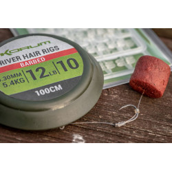 HAMECON MONTER AVEC CHEVEUX RIVER HAIR RIGS 1 M KORUM
