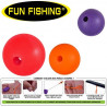 LOT DE 5 PERLES STRIPPA FUN FISHING