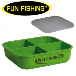 BOITE A ESCHES 4 COMPARTIMENT 0.5L FUN FISHING