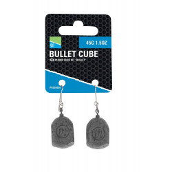 LOT DE 2 PLOMBS BULLET CUBE PRESTON INNOVATIONS