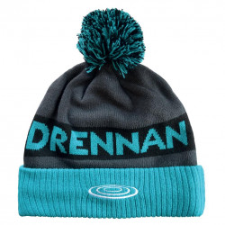 BONNET AQUA / BLACK BOBBLE HAT DRENNAN