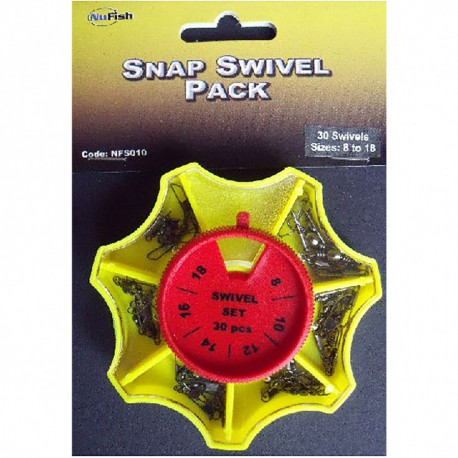 ASSORTIMENT EMERILLONS A AGRAFE SNAP SWIVEL PACK NUFISH